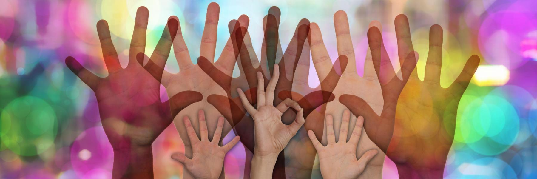 Hands held up