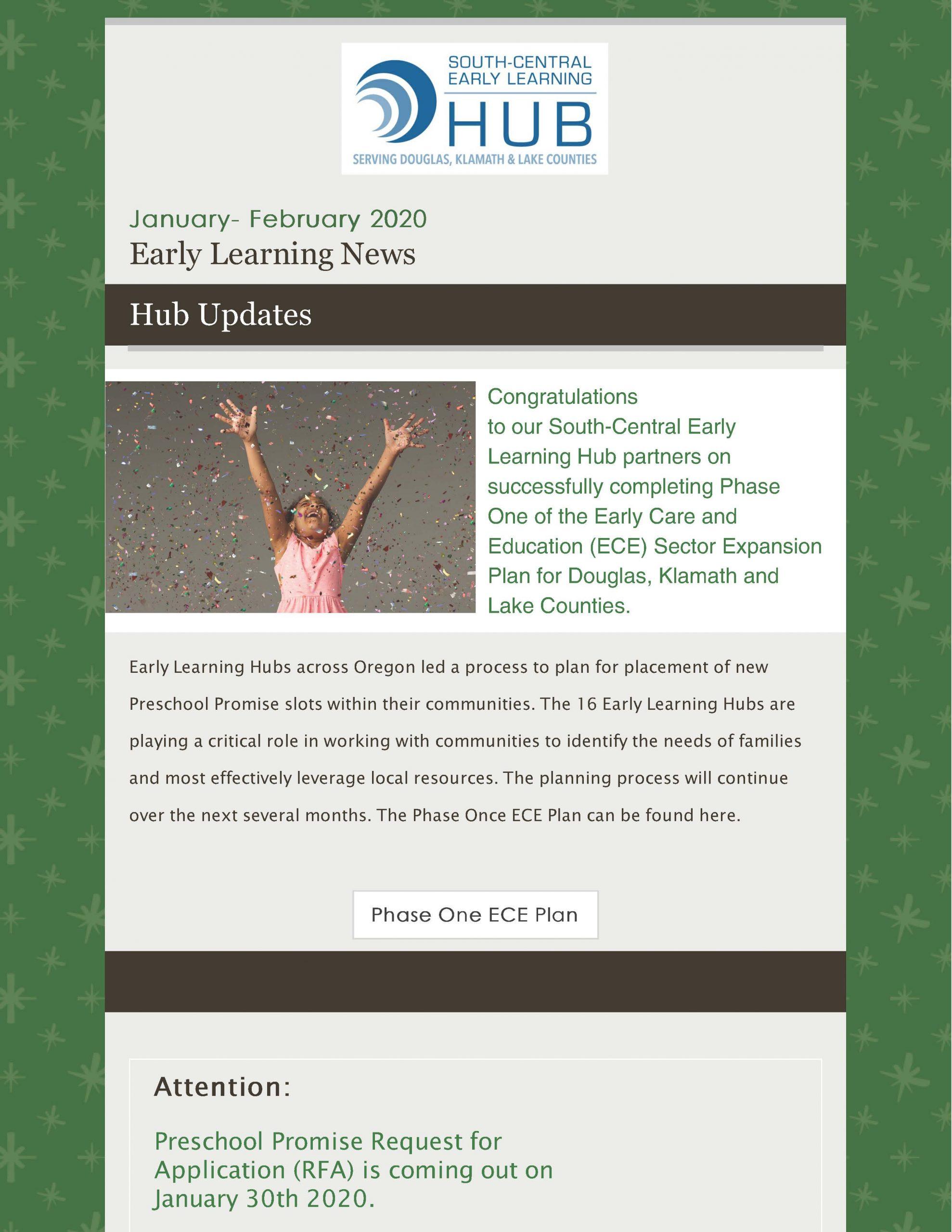 January-February 2020 Hub newsletter cover