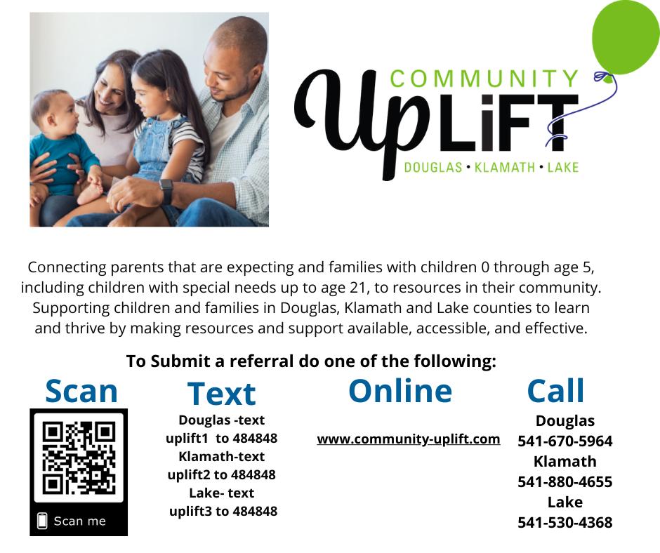 Community Uplift flyer